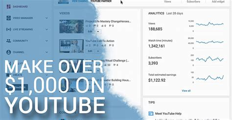 make money with youtube how i made an extra 1 187 66 how to make over 1000 per month on youtube