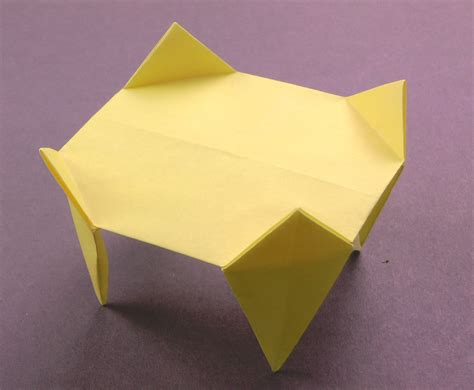 How To Make A Paper Table - origami table tavin s origami
