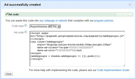adsense java google adsense launched asynchronous ad code gethow