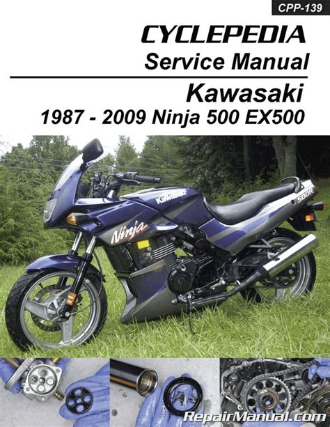 Kawasaki Motorcycle Service by Kawasaki Ex500 500 Cyclepedia Printed Motorcycle