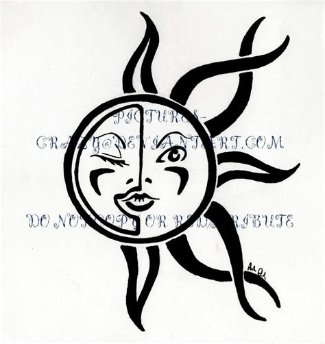 sun and moon tribal tattoo sun and moon tribal by pictures on deviantart