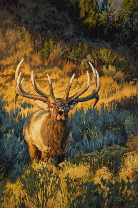 kirby original elk painting quot summit sound quot by kirby