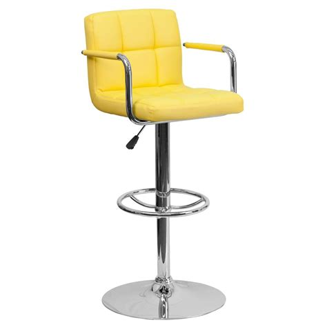 Yellow Stools by Flash Furniture 33 25 In Adjustable Height Yellow