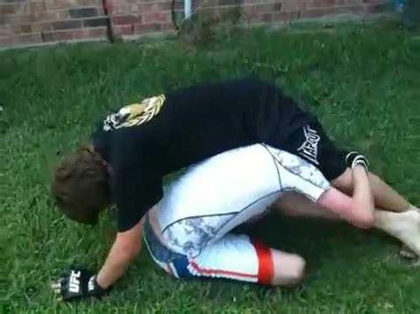 backyard mma jarod lawson vs ben adams in backyard mma youtube