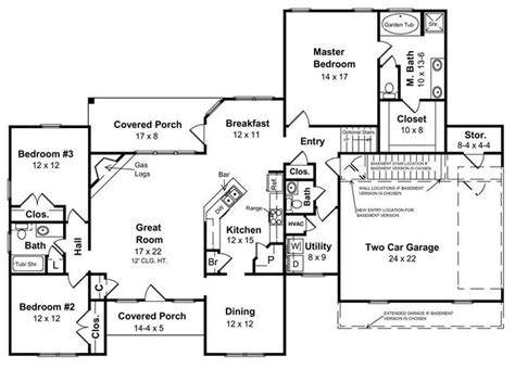 ranch style home floor plans with basement house plans for a ranch style home inspirational basement