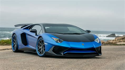 wallpaper blue car blue lamborghini car widescreen wallpaper 59994 5120x2880