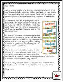 Behavior Letter To Parents From Teacher Template Classroom Rules A Well Charts And Behavior Management