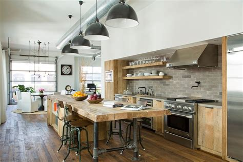 industiral and rustic loft kitchen by snaidero digsdigs glamorous rustic industrial kitchen gallery best