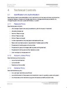 Information Security Plan Template by Security Plan Ms Word Template Instant