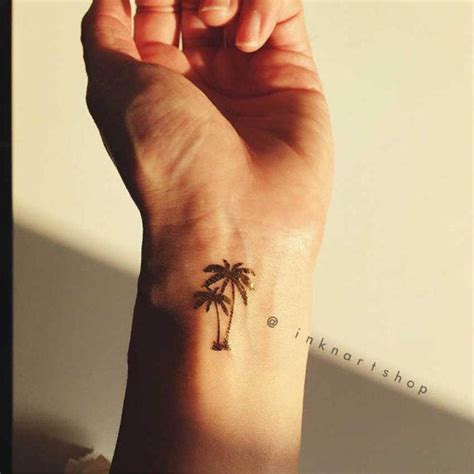 finger tattoo palm tree 77 attractive tree wrist tattoos design