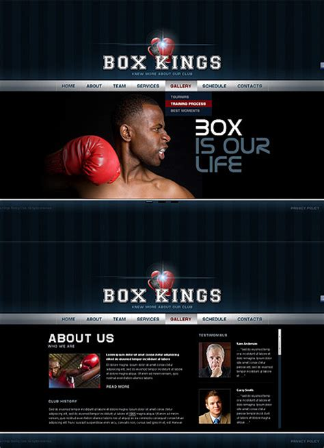 Boxing Club Html5 Template Id 300111500 From Bootstrap Template Com Boxing Templates Free