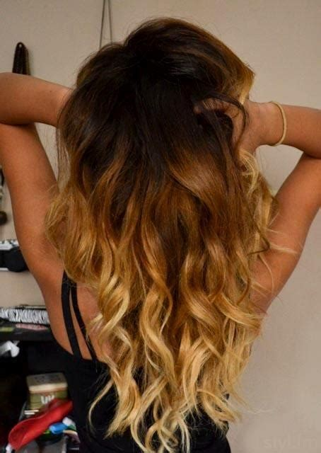 how long does ombre last long wavy layered hair ombre google search tresses