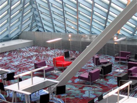 Glass Box Architecture by Repeat Rem Koolhaas Seattle Public Library Sleekness