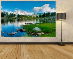 Landscape Wall Mural Wm117 Landscape View In Italy Lakeside Photo Mural