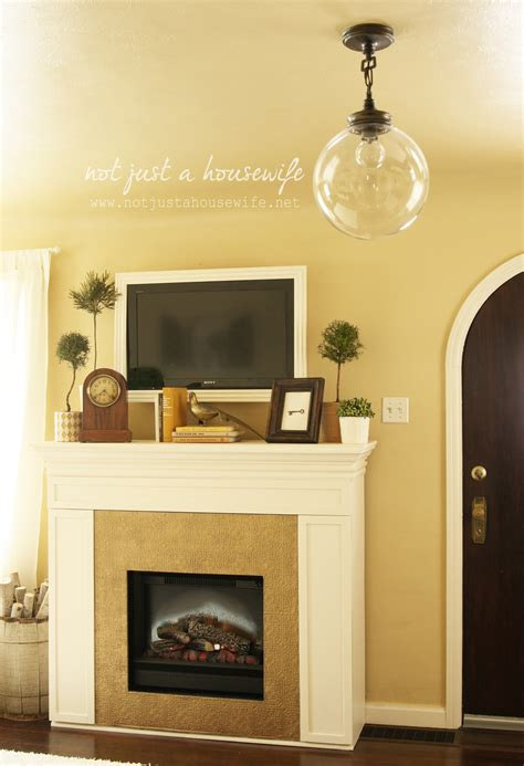 fireplace mantel decor not just a housewife