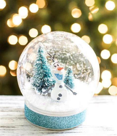olaf  snowman diy snow globe allfreechristmascraftscom