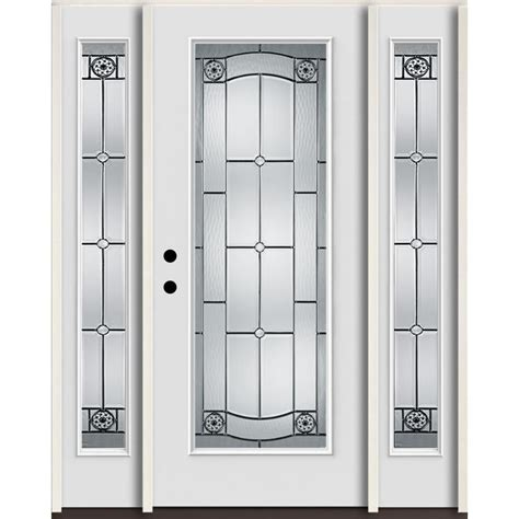 Shop Reliabilt Lite Patterned Glass Shop Reliabilt Elan Lite Decorative Glass Right Inswing Arctic White Painted