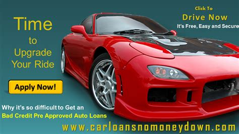 pre approved   car loan  bad credit