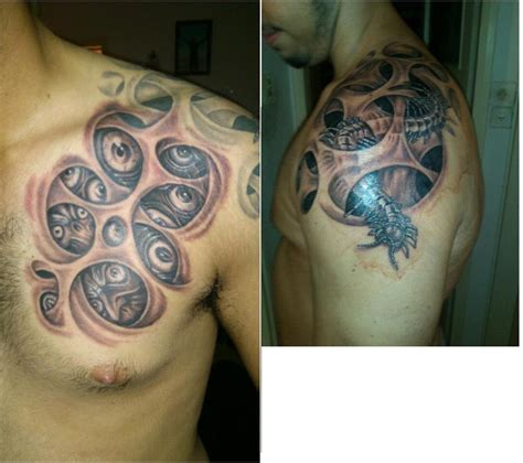 shoulder piece tattoo trypophobia www pixshark images galleries