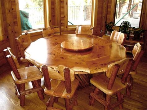 log dining room table and chairs on behance 12 best furniture to build lazy susan table images on