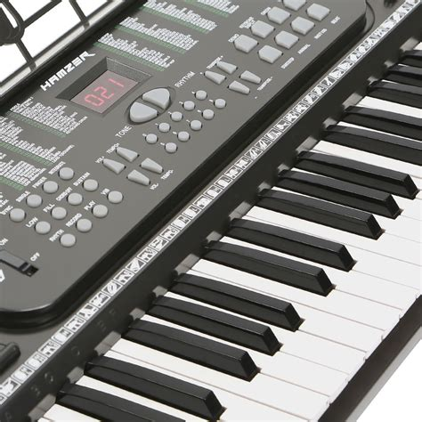 Keyboard Organ Techno new hamzer 61 key electronic keyboard electric piano organ black ebay