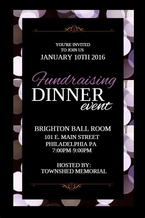 Fundraising Dinner Event Poster Template Caigning And Fundraising Event Posters Dinner Poster Template