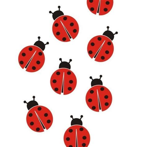 ladybird wall stickers ladybugs wall vinyl decals graphics stickers by sixunderatree ladybug birthday ideas
