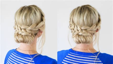 hairstyles for school you can do yourself french lace braid updo back to school hairstyles youtube