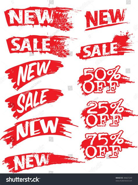 new sale imega advertising flashes new sale percentage stock vector 30667249