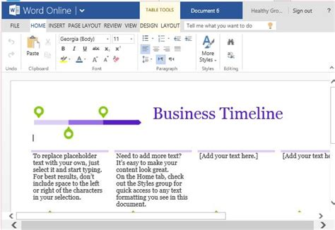 business project timeline template  word