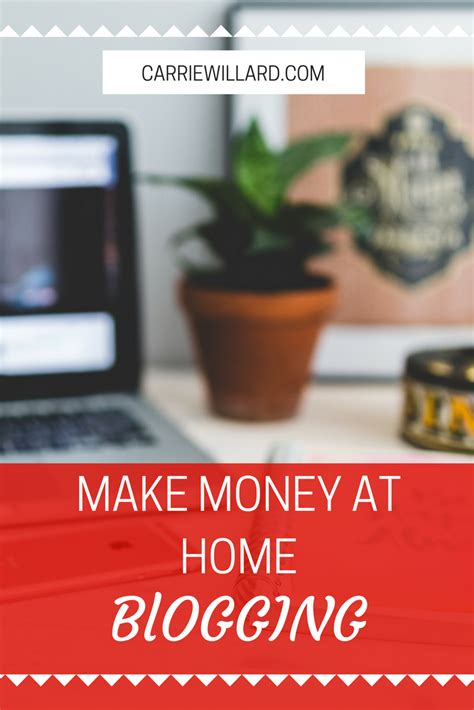 how to make money at home blogging 4 tell all