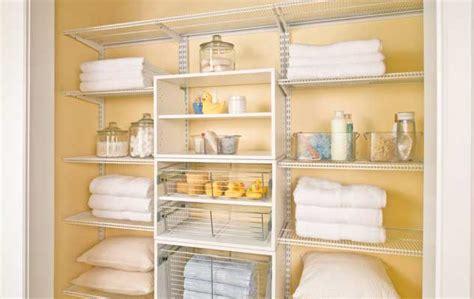 Closet Rail System Give Your Linen Closet Some Lovin Organized Living