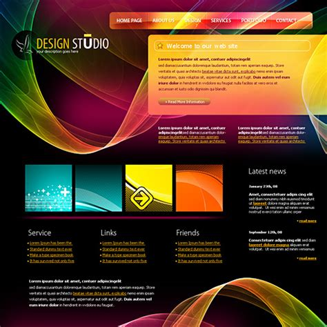 design html template 4198 web design consulting website templates