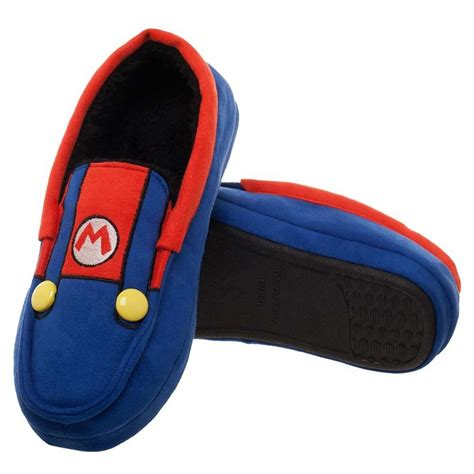mario brothers slippers mario bros suit up shoes unisex moccasins slippers