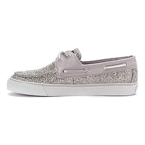 glitter sperry boat shoes 49 off sperry top sider shoes sperry silver glitter