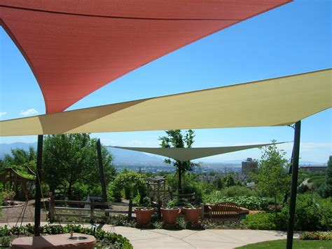 patio shade sails Patio Eclectic with hillside patio cover