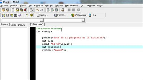 c tutorial for dev c tutorial como hacer una division en c youtube