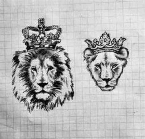 couple tattoo lion and lioness pinterest the world s catalog of ideas