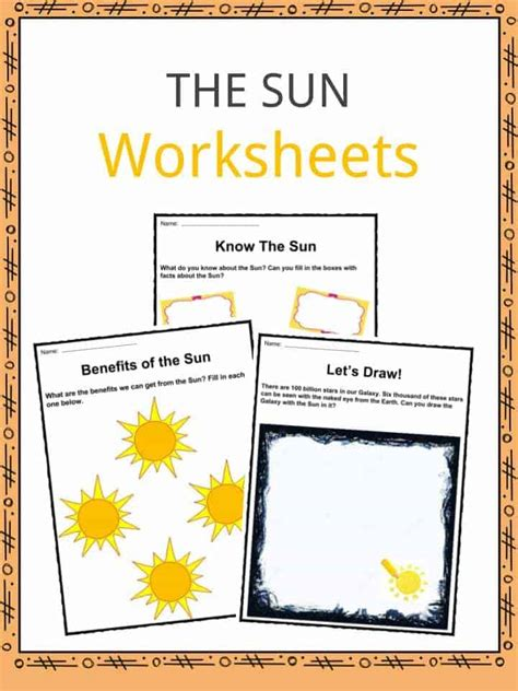 and sun worksheets for kindergarten best free