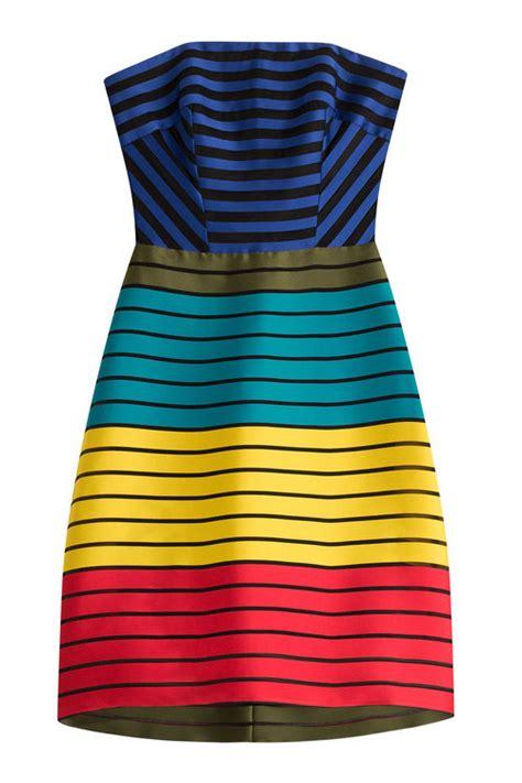 Dainty Freesia Heels katrantzou freesia strapless striped colour block dress