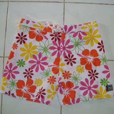 Celana Pantai Bali 2 celana pendek ban orange oleh2bali kerajinan bali