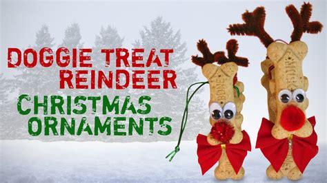 diy doggie treat christmas reindeer ornament christmas