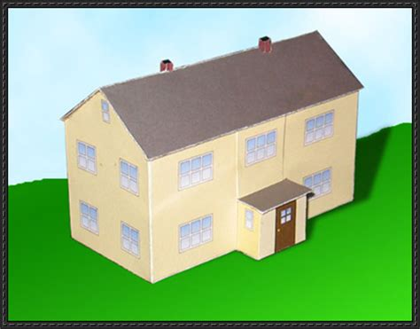 Paper Craft Houses - new paper model a simple german house free building
