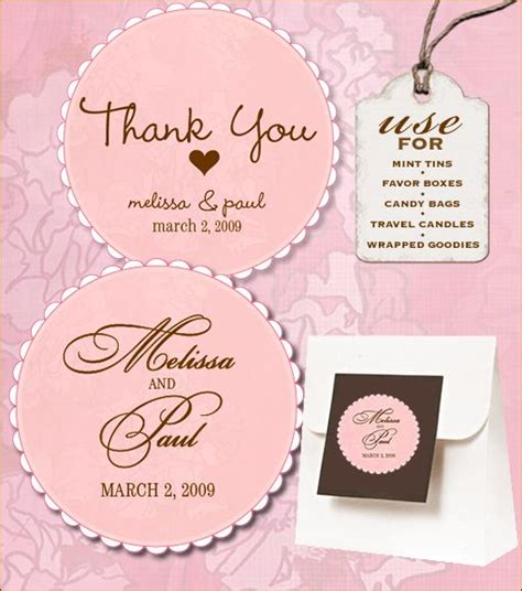 12 Best Wedding Labels Wedding Label Templates Images On Pinterest Craft Free Printables Wedding Tags Template