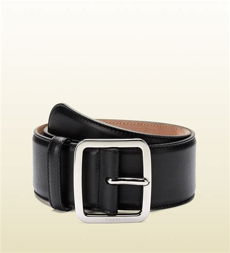 gucci black leather belt in black for lyst