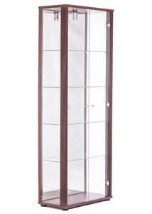 Glass Display Cabinet In Uk Door Glass Display Cabinet Brown