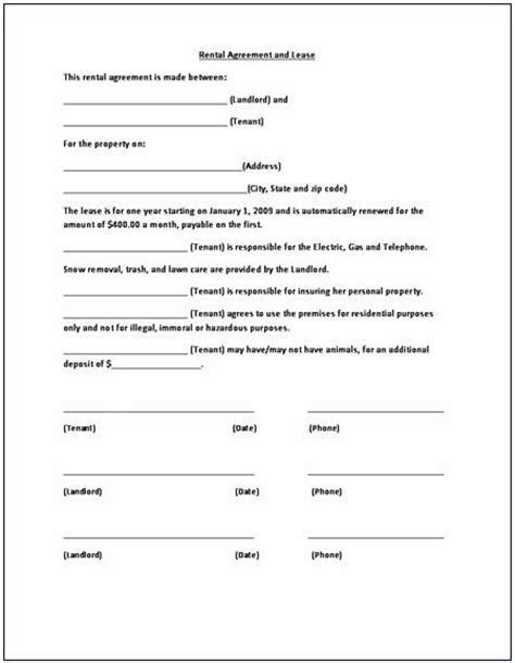 real estate lease agreement template printable sle rental lease agreement templates free