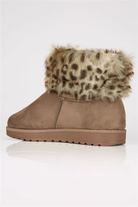 Buckle Gift Card Value - tan faux fur trim ankle boots in true eee fit