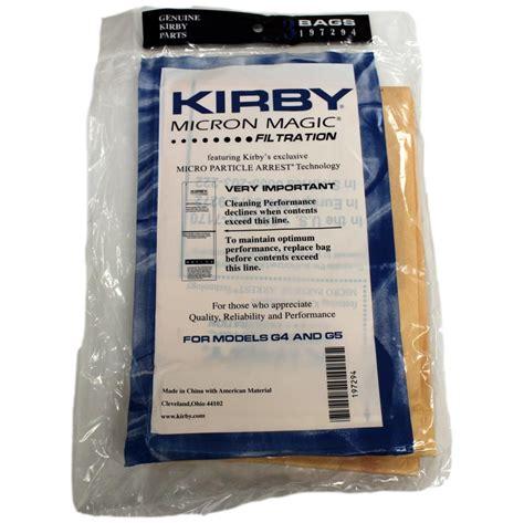 Kirby Vaccum Bags kirby g4 g5 vacuum cleaner bags 197294s genuine 3 pack
