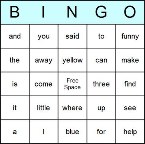 Vocabulary Bingo Card Template by New 797 Sight Word Bingo Printable Template Sight Word